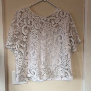 White lace top with built in cami
